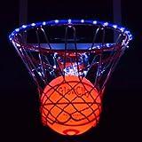 Light Up LED Basketball With Light Up LED Rim Kit (Blue)
