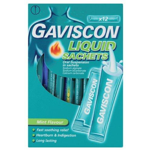 Gaviscon Liquid Sachets Mint Flavour x 12