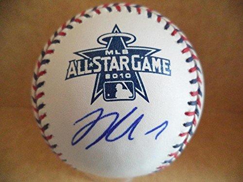 Autographed Joe Mauer Baseball - 2010 All Star Game W coa - Autographed Baseballs