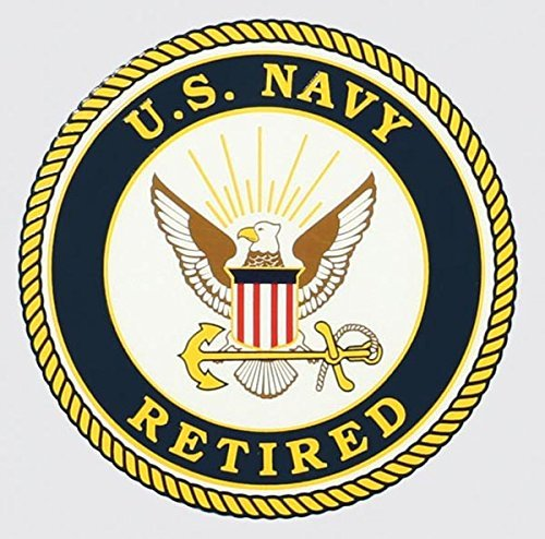 Navy Retired Decal - United States Navy Retired Seal Car Decal US Navy Gifts Military Products