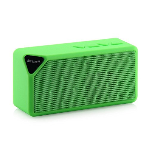 MINI Bluetooth Speaker X3 Jambox Style TF USB FM Wireless Portable Music Sound Box Subwoofer Loudspeakers with Mic caixa de som (Flat Pioneer Woofer)
