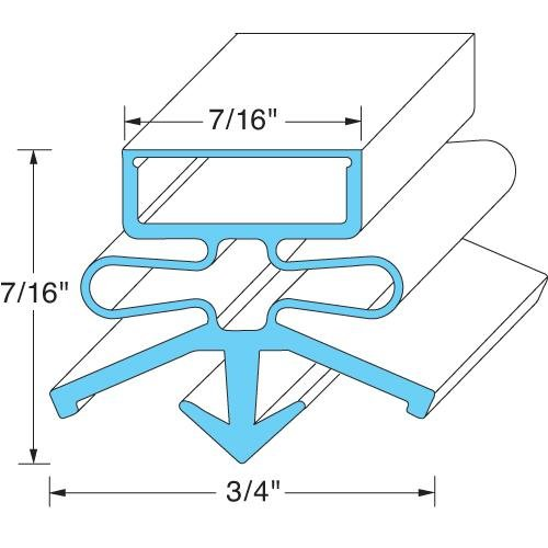 True 810812 Gasket Refrigerator Tpp 67 product image