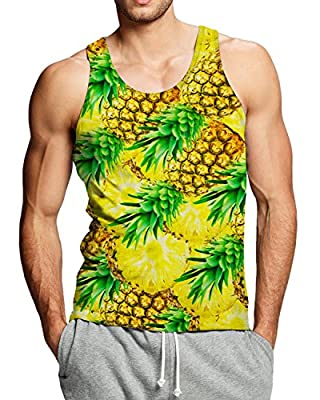 Adicreat Men 3D Printed Funny Tank Tops Sleeveless Round Neck Vest T-Shirt for Gym Sport and Casual