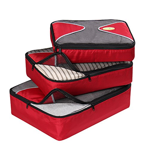 Waterproof 5-Piece Packing Bags (Red) - 9