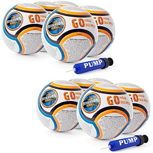 The Mission Ball English Soccer Ball - Biblical Gospel Sharing Tool Using The World's Most Popular Sport to Explain Christ - for Operation Christmas Child, Mission Trips, Shoeboxes, VBS (10 Pack) (Samaritan Christmas Boxes Good)