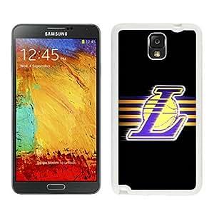 New Custom Design Cover Case For Samsung Galaxy Note 3 N900A N900V N900P N900T LA lakers 5 White Phone Case