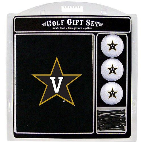 Team Golf NCAA Vanderbilt Commodores Gift Set Embroidered Golf Towel, 3 Golf Balls, and 14 Golf Tees 2-3/4
