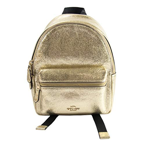 Coach Charlie Gold Metallic Leather Mini ()