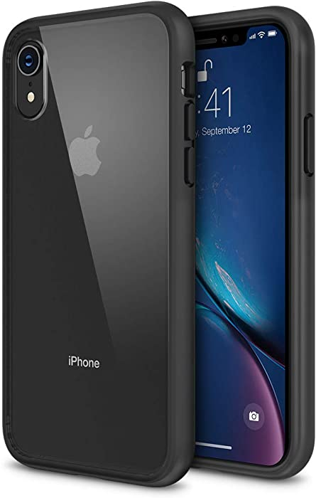 iPhone XR Case, Maxboost HyperPro Hybrid Case Compatible Apple iPhone XR 2018 -Matte Black [Enhanced Drop Protection] Infused GXDGel/TPU Cushion/Rigid Clear Backplate Cover (Fit Most Screen Protector)