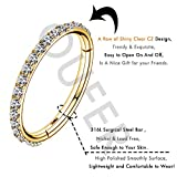 OUFER Gold Hinged Segment Earring Hoop 16G