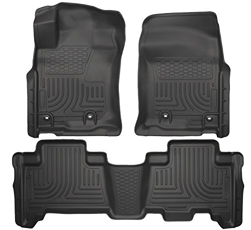 Husky Liners Front & 2nd Seat Floor Liners Fits 14-18 GX460, 13-18 (Carpeted Floor Liners)