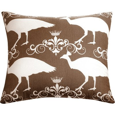 The Well Dressed Bed Accent Pillow, 20 by 20-Inch, Brown/Peacock