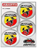 Automotive : Abarth 21504 Set of 4 stickers Badges Diameter 48