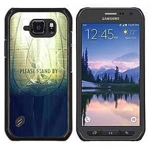 Caucho caso de Shell duro de la cubierta de accesorios de protección BY RAYDREAMMM - Samsung Galaxy S6Active Active G890A - Soporte por favor