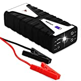 AllStart Portable Jump Starter by AFTERPARTZ 18000mAh 800A for all 12V Engine USB Charger 12-16V Power Bank Car Battery Emergency Booster Advanced Battery Protection