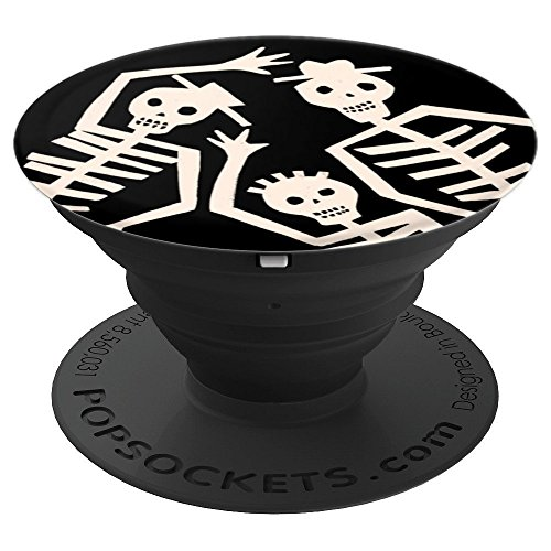 Skeleton - Dancing Halloween - PopSockets Grip and Stand for Phones and Tablets