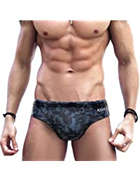 605dec764f Mens Sexy Swim Briefs Camo Pattern Bikini Swimsuit for Men