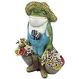 Cheap Design Toscano Buckets The Garden Frog Statue, Full Color