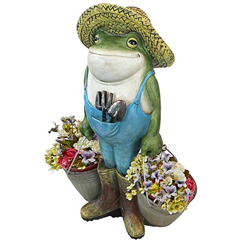Design Toscano Buckets The Garden Frog Statue ()