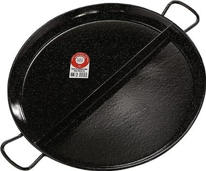 42/cm schwarz 6/St/ück La Ideal emailliert multigusto 2/Fach Paella-Pfanne