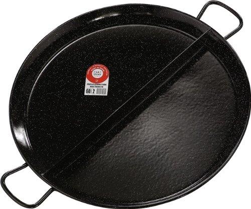 La Ideal Multigusto Esmaltada Paella Pan con 2 compartimentos ...