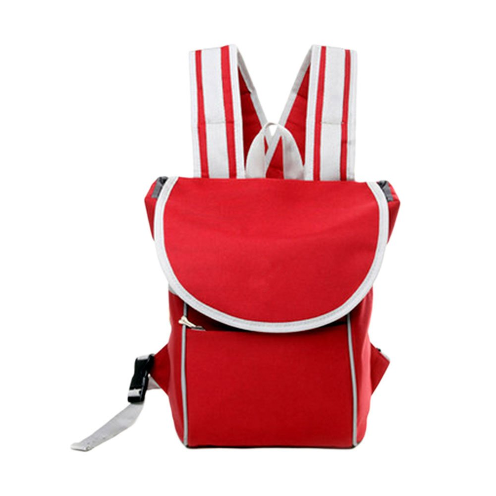 Red Meijunter Red Fashion Outdoor Pet Cat Puppy Portable Front Carrier Mesh Backpack Travel Bag