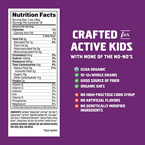 Large Product Image of CLIF KID ZBAR - Organic Energy Bar - Chocolate Chip - (1.27 Ounce Snack Bar, 18 Count)