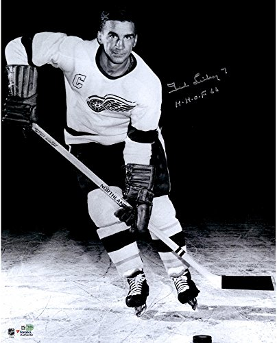Ted Lindsay Detroit Red Wings Autographed 16