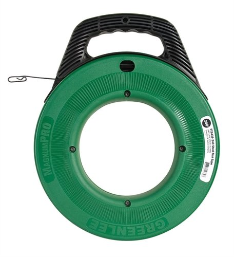 GREENLEE FTS438-240 STEEL FISH TAPE MAGNUMPRO, 1/8 x 240'