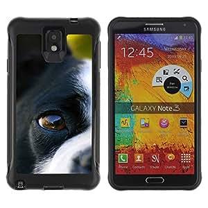 Suave TPU GEL Carcasa Funda Silicona Blando Estuche Caso de protección (para) Samsung Note 3 / CECELL Phone case / / Boston Terrier Eye Dog Canine Nose /