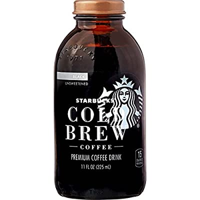 Starbucks Cold Brew Premium Black Coffee Drink, Unsweetened, 11 oz (8-Pack)