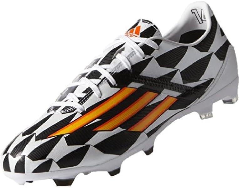 newest 83733 e080e F50 Adizero TRX FG WC - Chaussures de Foot Blanc Orange Fluo Noir -