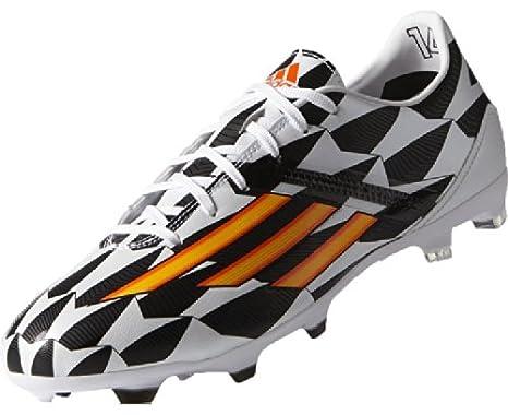 sports shoes abf66 50357 adidas World Cup F50 adizero FG Scarpa da Calcio Uomo, Nero Bianco Arancione