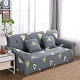 RUGAI-UE Sofa Slipcover sofa cover tight fitted elastic gasket cover three upholstered sofa full four living room,Two seater sofa long 145-185cm,Leisure holiday