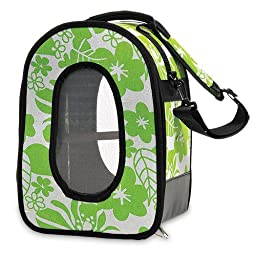 A&E CAGE COMPANY 001375 Green Happy Beaks Soft Sided Bird Travel Carrier, 13.5 x 9 x 18.5\