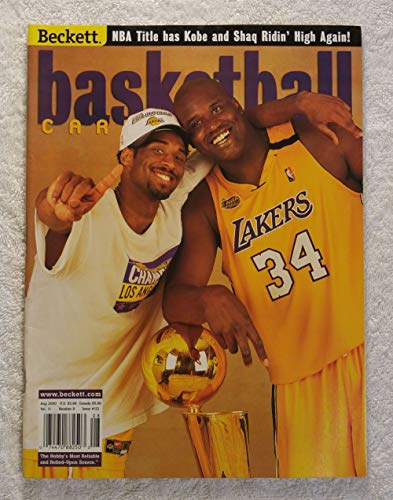 Shaquille O'Neal & Kobe Bryant - Los Angeles Lakers - NBA World Champions! - Beckett Basketball Monthly Magazine - #121 - August 2000
