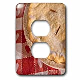 3dRose Danita Delimont - Food - Homemade cherry pie, USA - Light Switch Covers - 2 plug outlet cover (lsp_277971_6)