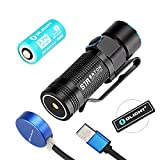 900 lumen rechargeable flashlight - Olight S1R 900 Lumen Turbo S Rechargeable LED Flashlight EDC Light Cree XM-L2 with Magnetic Charging Dock