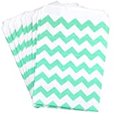 popcorn boxes mint - Outside the Box Papers Mint Green Chevron Treat Sacks 5.5 x 7.5 48 Pack Mint Green, White