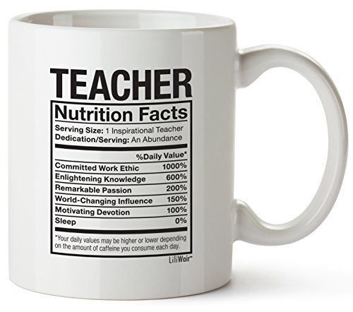 Teacher Nutrition Facts Mug