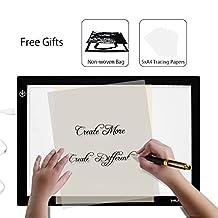Huion 17.72 Inches Only 5mm Ultra-thin USB Power Tattoo Light Box LED ADJUSTABLE Illumination Tracer 50000 Hours Lifetime LightPad Light Desk