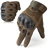 JIUSY Touch Screen Military Rubber Hard Knuckle Tactical...
