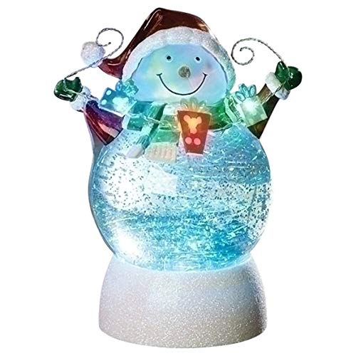 ROMAN 7'' LED SWIRL SNOWMAN W/GARLAND B/O NOT INCLUDED by Roman