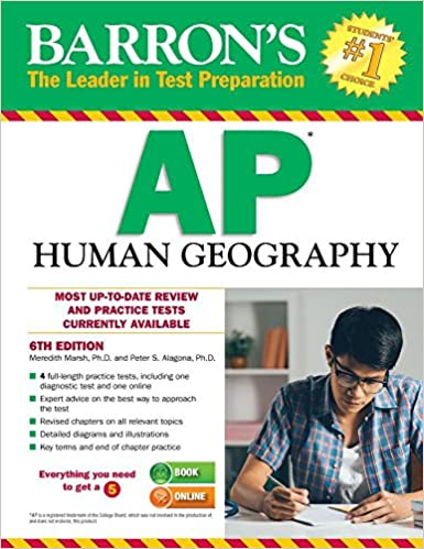 amazon com barron s ap human geography 6th edition 9781438007410