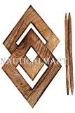 NAUTICALMART Decorative Wooden Curtain Tiebacks Set of 2 Window Treatment Holdbacks Drape Binds Hand Carved with Rustic Finish Home Decor