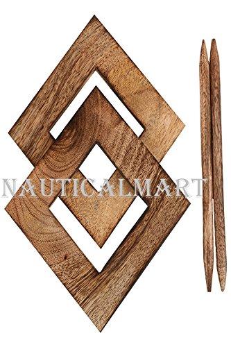 NAUTICALMART Decorative Wooden Curtain Tiebacks Set of 2 Window Treatment Holdbacks Drape Binds Hand Carved with Rustic Finish Home Decor by NAUTICALMART (Image #3)