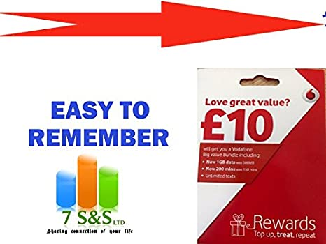 Vodafone Payg Top Up >> 07799 40748 Vodafone Golden Easy To Remember Payg Triple Cut Sim