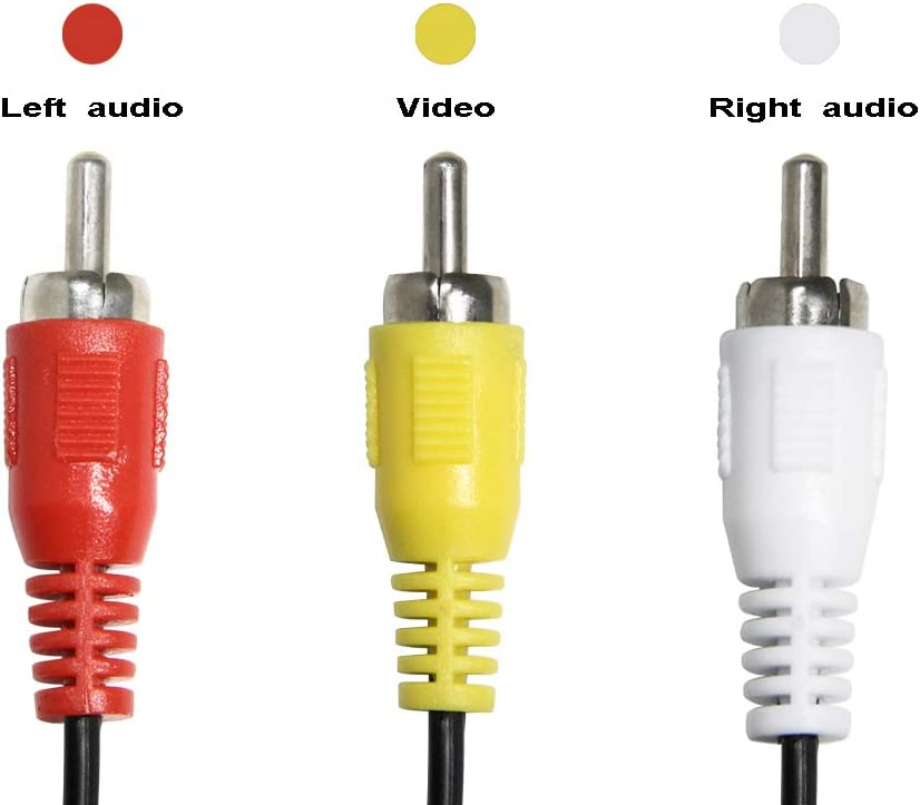 AV Cable Splitter Ancable 3 RCA Male Plug to 6 RCA Female Jacks Composite Video Splitter Adapter Output Cables Cord