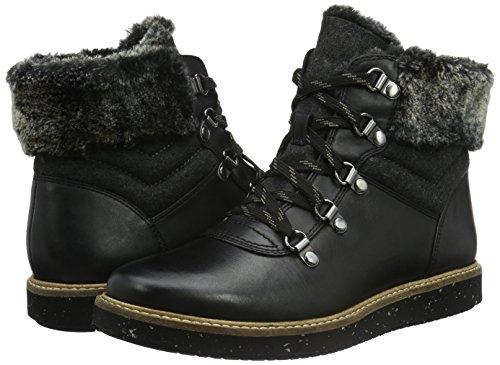 Clarks Corti Leather Stivali Clarmont black Donna Glick Nero qqHFUaw