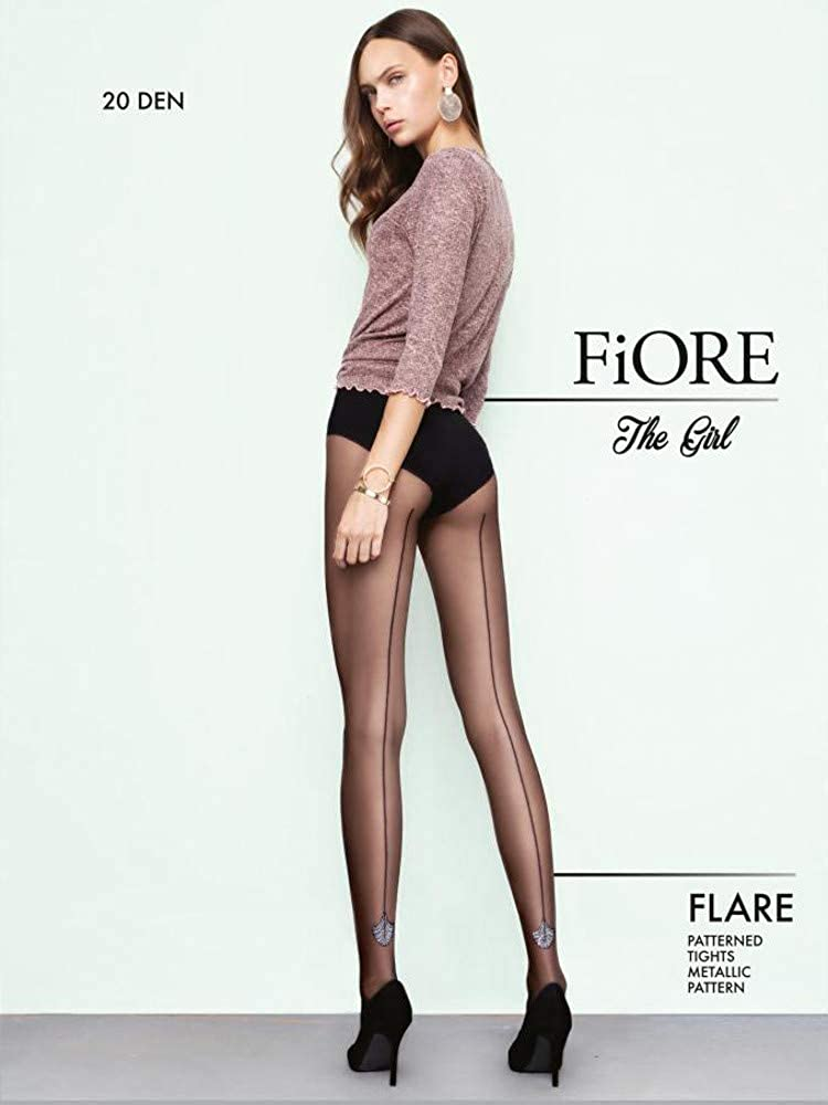 5825c24f6 Fiore Flare Seamed Sparkle Tights  Amazon.co.uk  Clothing